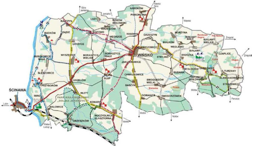 Mapa Gminy Wińsko