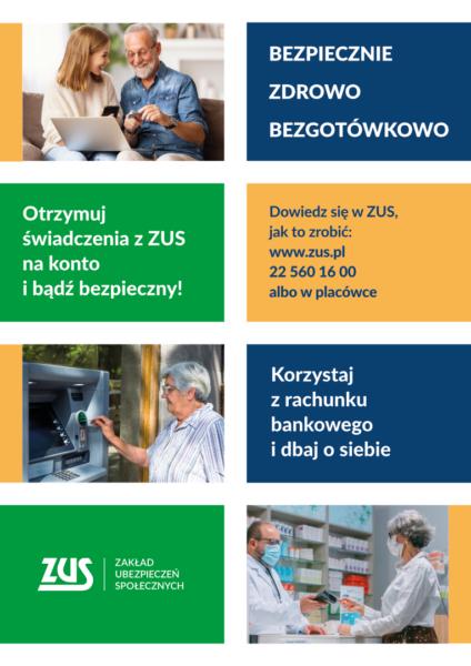 Plakat akcji Bezpiecznie, zdrowo, bezgotówkowo