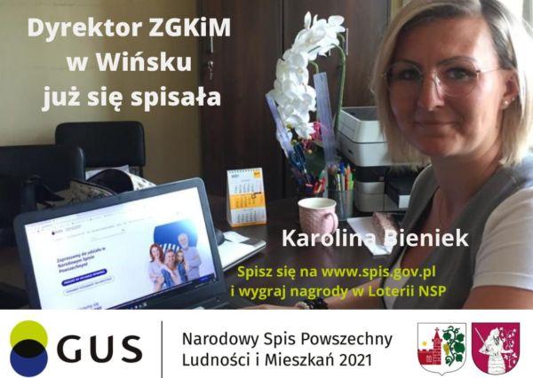 Karolina Bieniek, dyrektor ZGKiM już się spisała