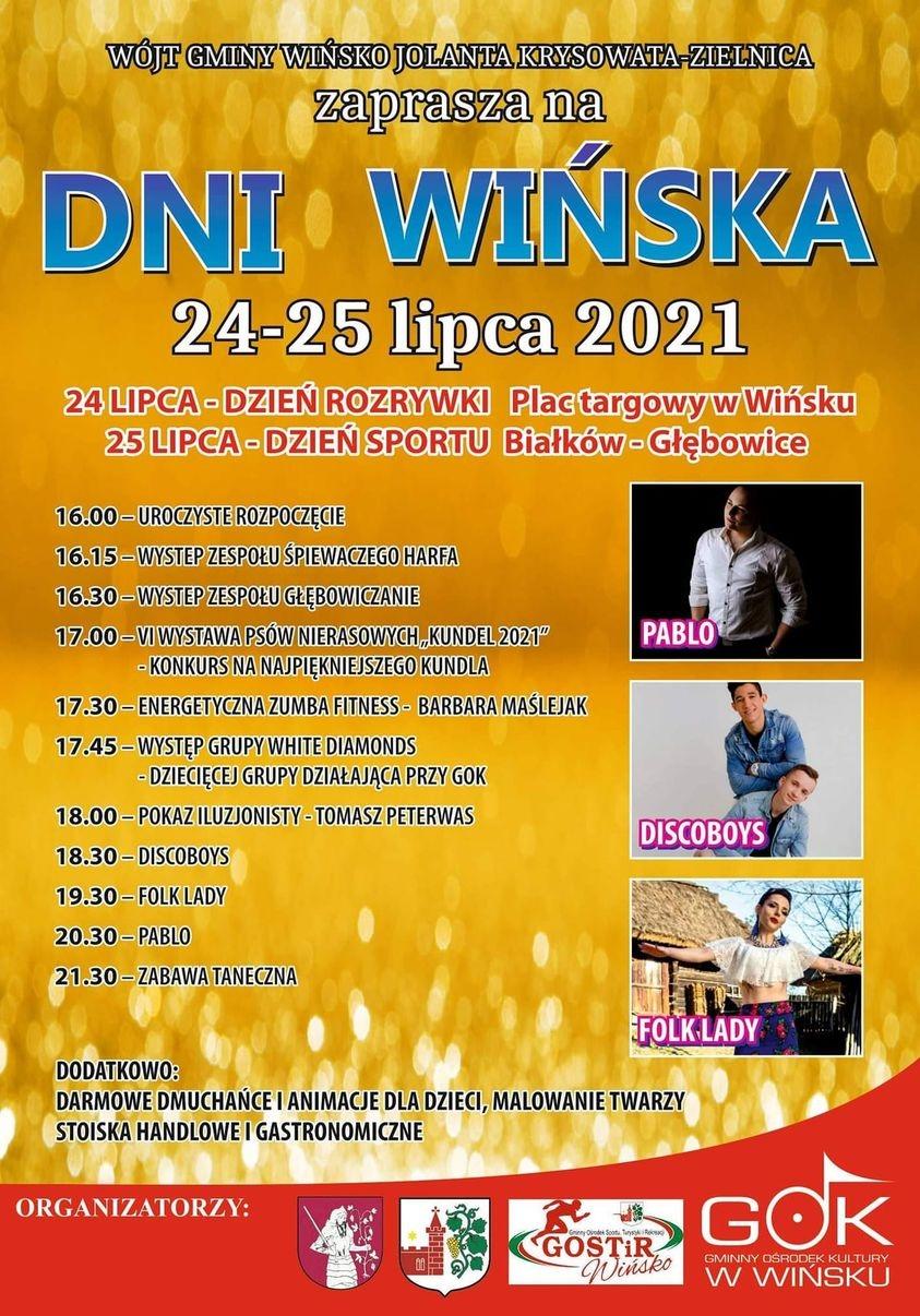 Plakat na Dni Wińska